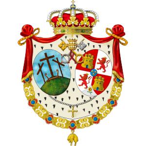 Escudo Montserrat Viernes Santo en Sevilla