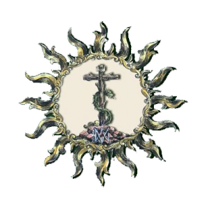 Escudo Sol Sábado Santo en Sevilla
